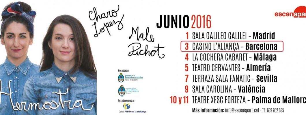 Charo López y Malena Pichot con Delicatessen Argentina