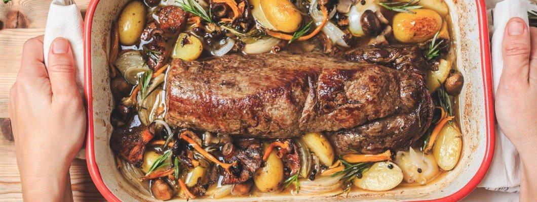 Solomillo Argentino con Setas y Vegetales de Temporada