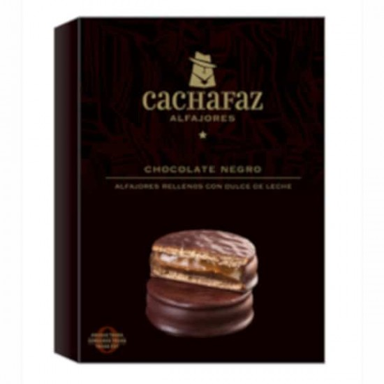 Alfajor Cachafaz Chocolate Negro x 12 u