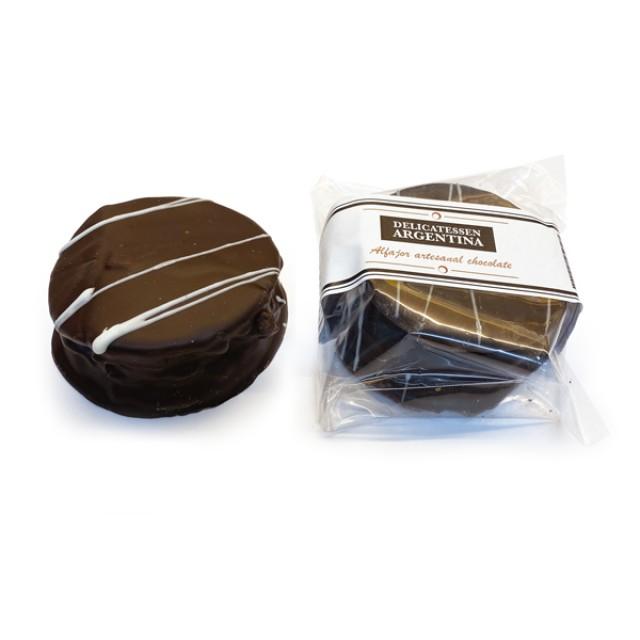Alfajor de Chocolate Negro con Dulce de Leche Artesanales Marca Delicatessen Argentina - Unidad