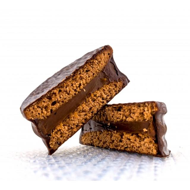 Alfajor de Chocolate y Dulce de Leche El Piave Estilo Artesanal Unidad