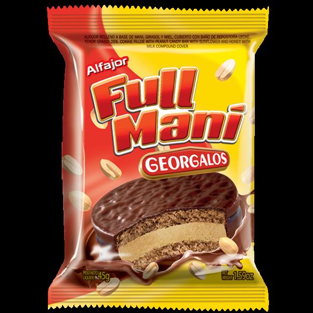 Alfajor Full Maní Georgalos Argentino 45 gramos