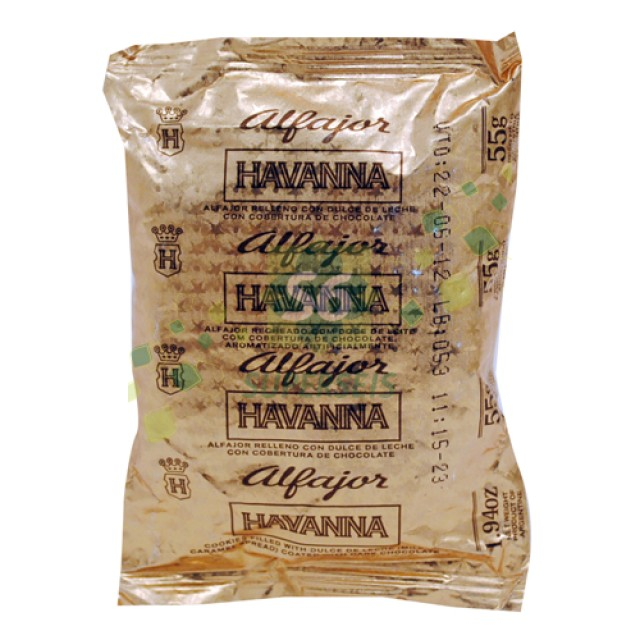 Alfajor Havanna de Chocolate y Dulce de Leche en Flow Pack Al Vacío Unidad