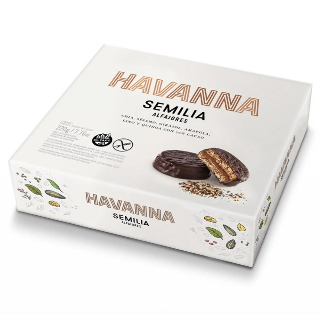 Alfajor Havanna Semilia Sin Gluten Caja 4 Unidades