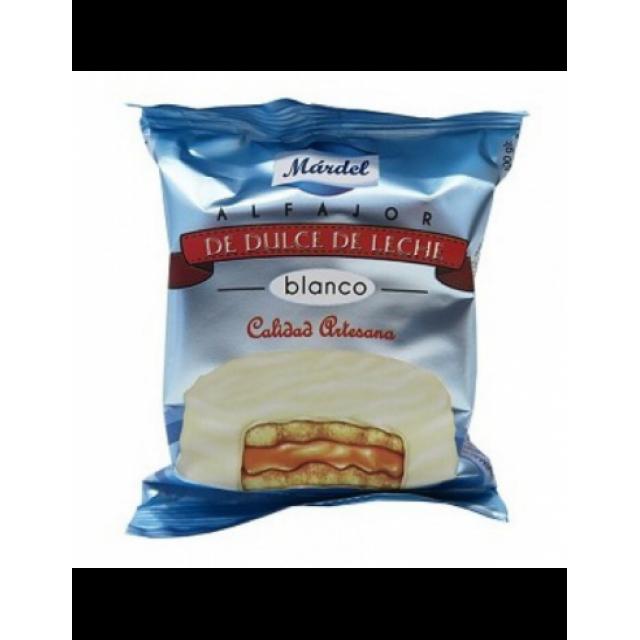 Alfajor Mardel Blanco de Dulce de Leche Unidad