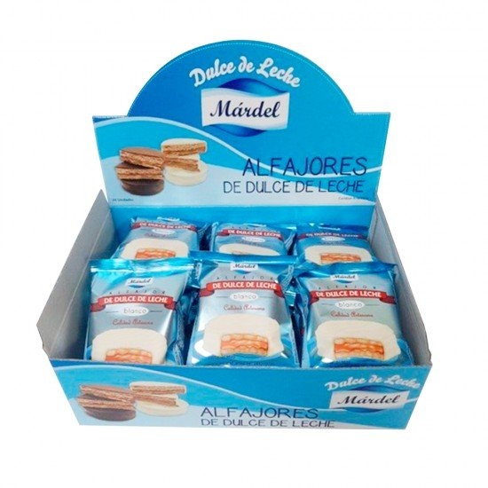 Caja de Alfajores Mardel Blanco de Dulce de Leche