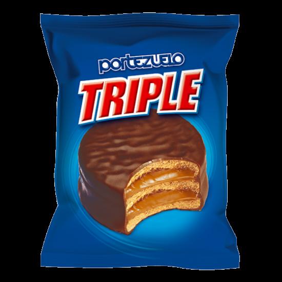 Alfajor Portezuelo Triple de Chocolate Relleno de Dulce de Leche de Uruguay - Unidad