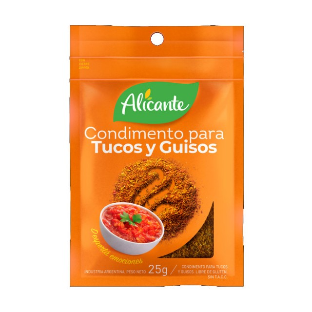 Condimento para Tuco y Guisos Alicante Argentino 25 Gramos