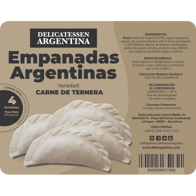 Bandeja Empanadas Criollas de Carne Congeladas 4 Unidades Delicatessen Argentina