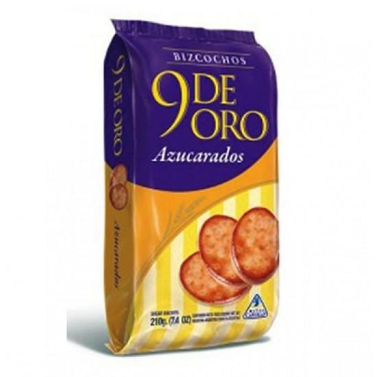 Bizcochitos de Grasa Dulces Azucarados 9 de Oro Argentinos