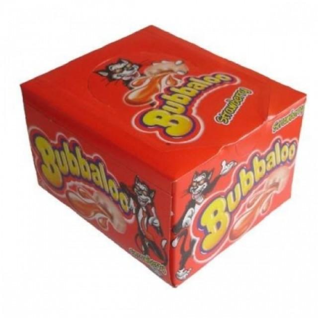 Chicle Bobbaloo Fresa Caja 300 Gramos de 60 Unidades