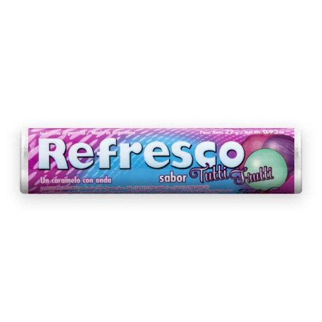 Caramelos Refresco Tutti Frutti de Argentina Unidad Blister 27 gramos