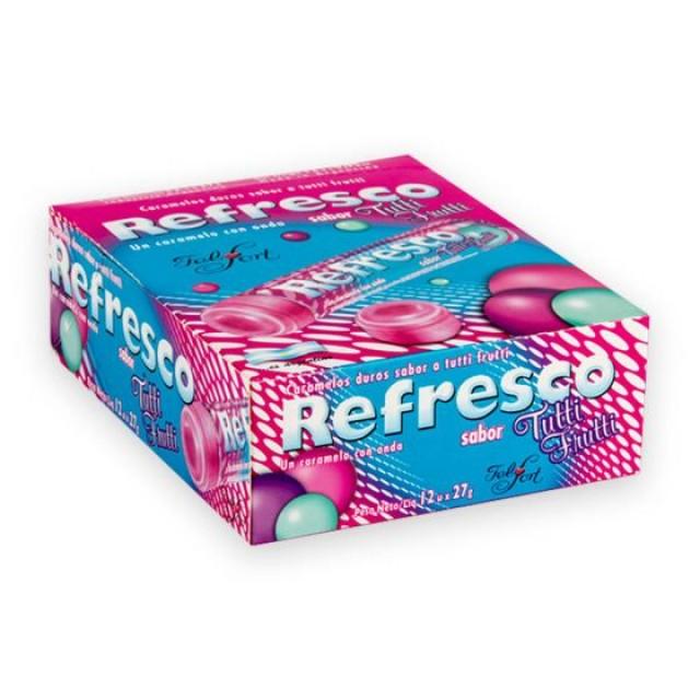 Caramelos Refresco Tutti Frutti de Argentina Caja de 12 Blisters de 27 gramos