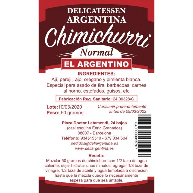 Chimichurri El Argentino Normal