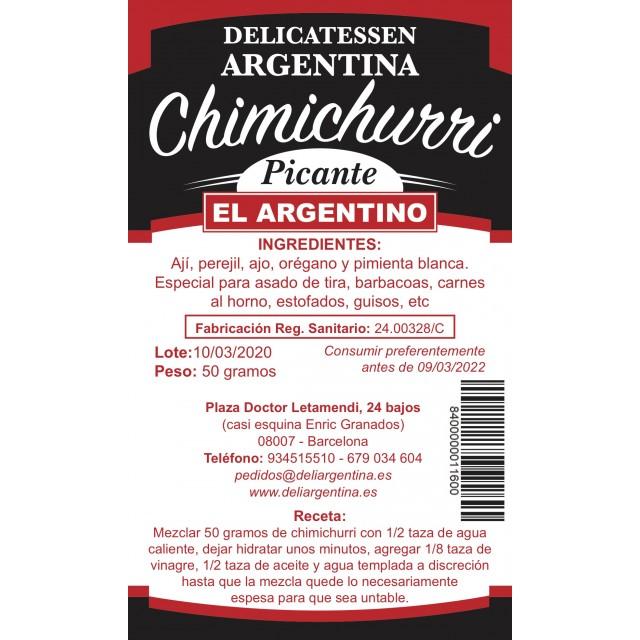 Chimichurri El Argentino Picante