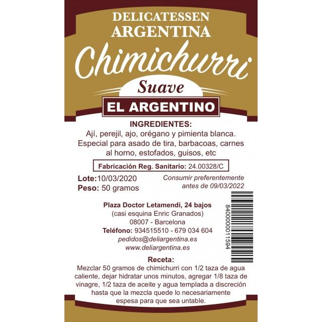 Chimichurri El Argentino Suave