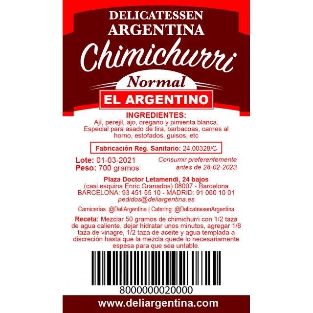 Chimichurri 700 Gramos  El Argentino Normal