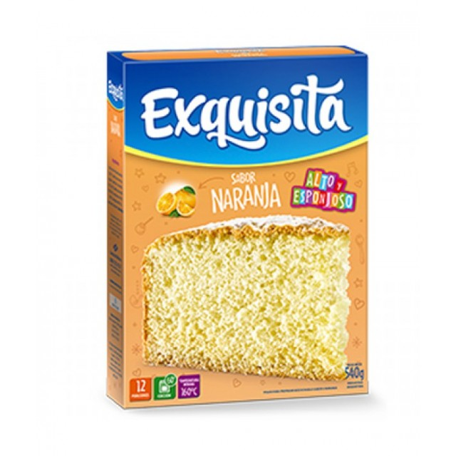 Bizcochuelo Argentino Exquisita Sabor Naranja 540 gramos