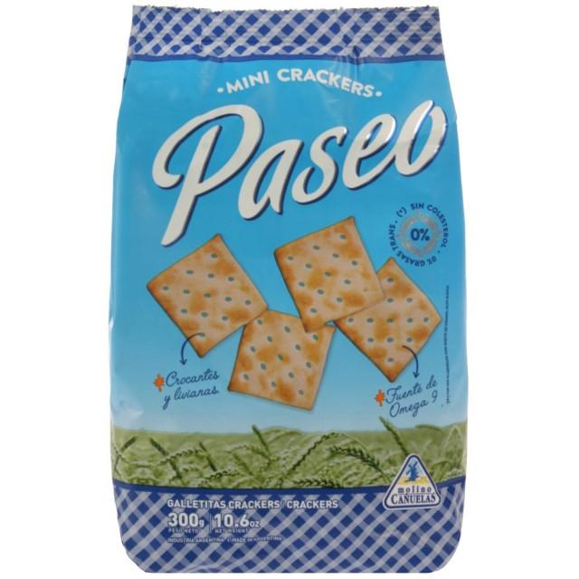 Galletitas Crackers Paseo 300 Gramos Molino Canuelas Argentina