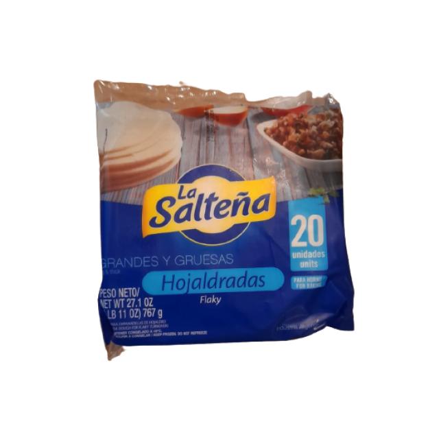 Tapas de Empanadas La Salteña Hojaldrada 20 Unidades de 14 CM