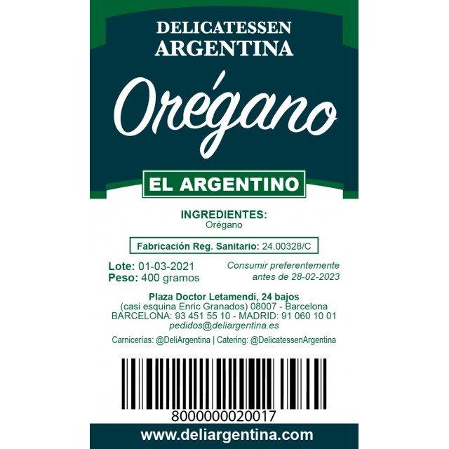 Orégano 400 Gramos El Argentino