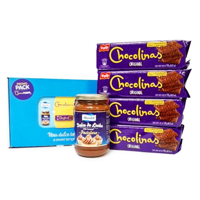 Pack Chocotorta con Chocolinas Argentinas y Dulce de Leche