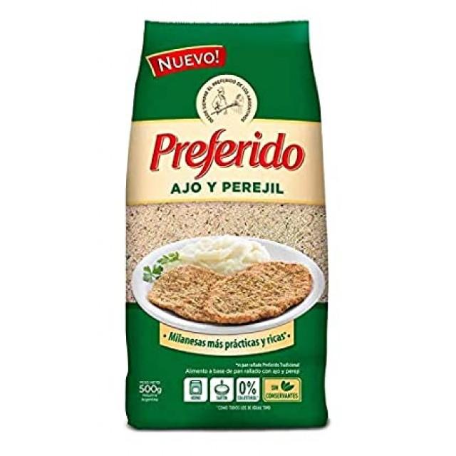 Pan Rallado Preferido con Ajo y Perejil 500 gramos Argentino