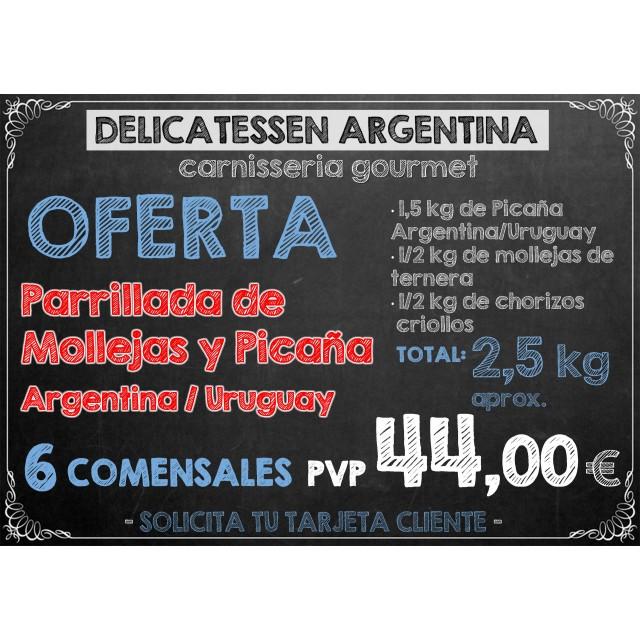 Parrillada de Mollejas y Picaña Argentina/Uruguay