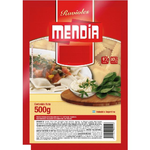 Ravioles Argentinos de Espinacas Mendia