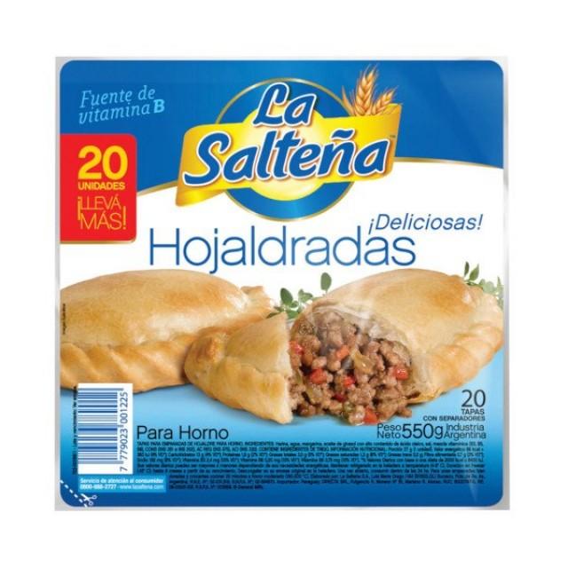 Tapas de Empanadas La Salteña Hojaldrada 20 Unidades Oferta 5 Paquetes