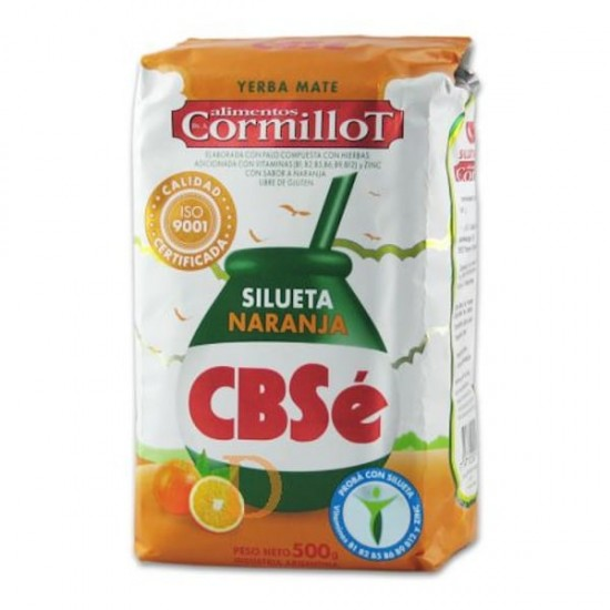 Yerba Mate Argentina CBSé Silueta Naranja 500 gr