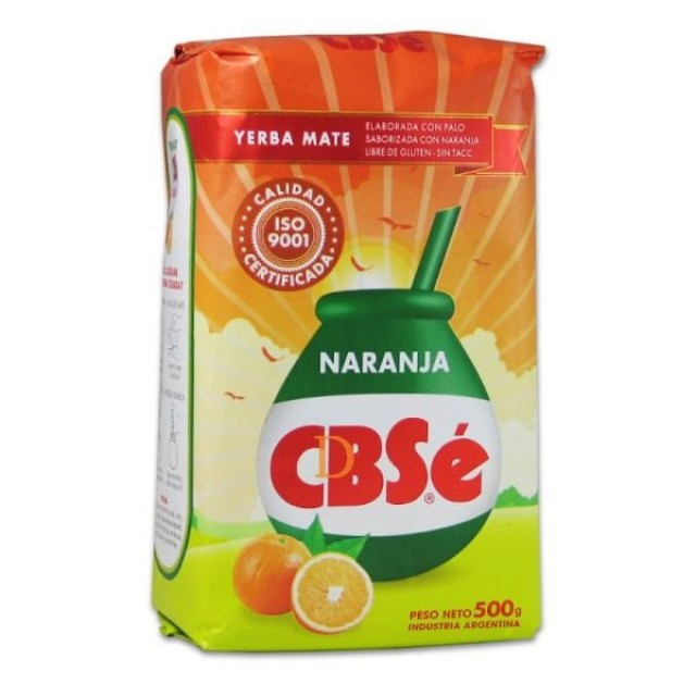 Yerba Mate CBSé Naranja 500 gr
