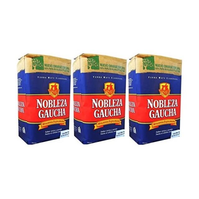 Yerba Mate Nobleza Gaucha Azul 500gr - Pack de 3 Unidades