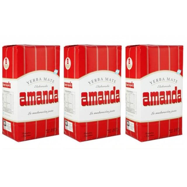 Yerba Mate Amanda 500 Gramos Pack 3 Unidades