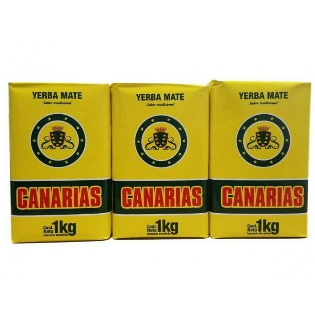 Yerba Mate CANARIAS 1 Kilo Pack 3 Unidades
