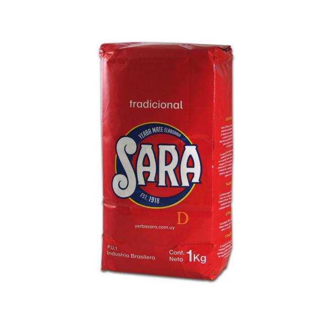 Yerba Mate Sara Roja Tradicional sin Palo 1kg