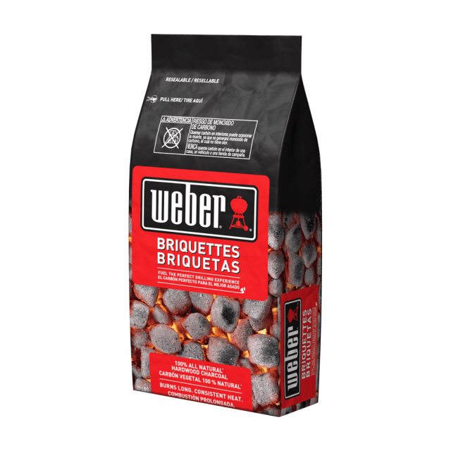 Briquetas de Carbón Weber Premium 4 kilos  Para Deliverys 1 Unidad Máximo