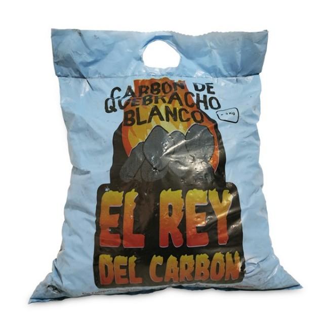 Carbón Vegetal Quebracho Blanco Origen Paraguay Estilo Argentino 3 kilos  (opción para 1 O MÁS BOLSAS) - SOLO ADMITE RECOGIDA EN TIENDA