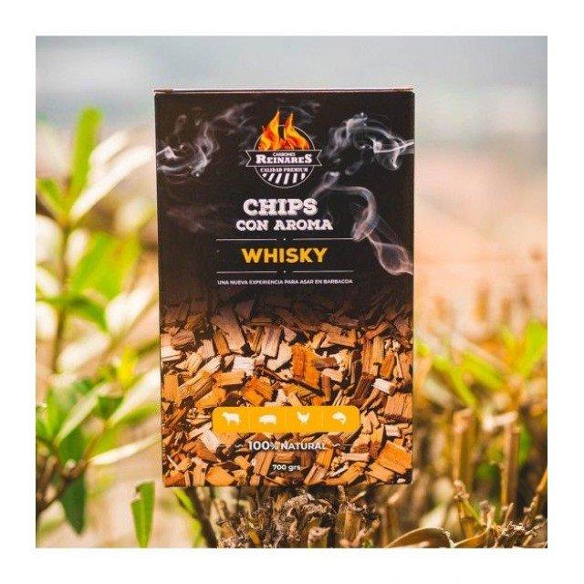Chips aromáticos sabor Whisky Reinares Bolsa x 700 grs.
