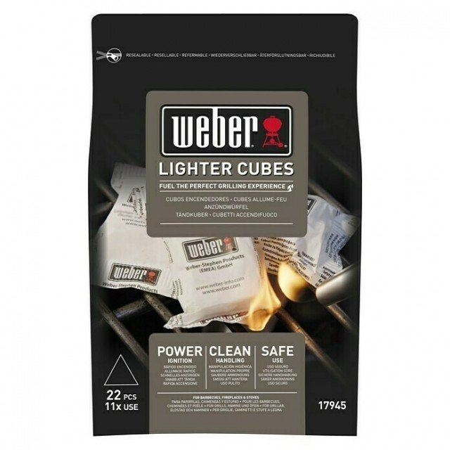Pastillas de Encendido Ecológicas Weber Naturales Lighter Cubes