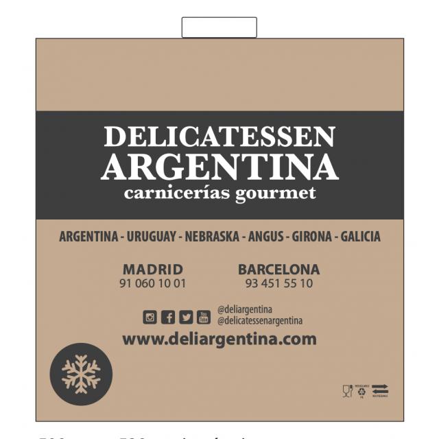 Bolsa Isotérmica Grande Reutilizable Reciclable para Carnes Premium Delicatessen Argentina