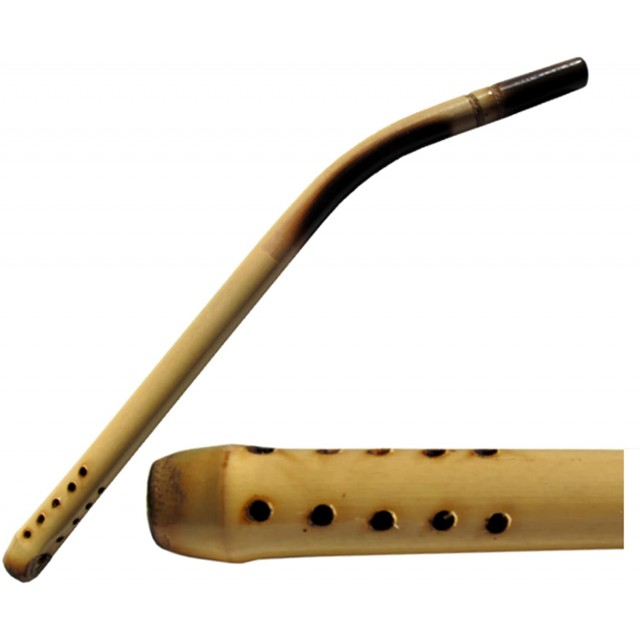 Bombilla Curva de Caña de Bambú de Largo de 17 cm Argentina