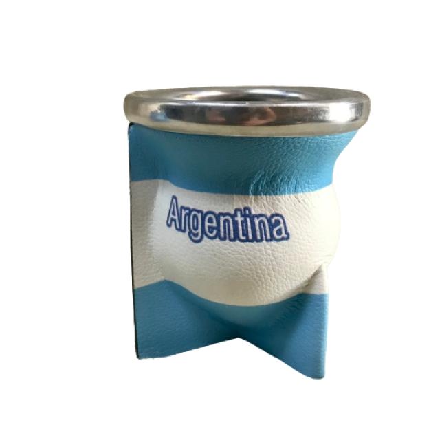 Mate de Vidrio Bandera de Argentina Goma Eva Alto