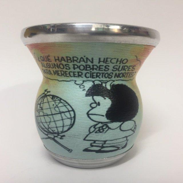 Mate de Vidrio Diseño Mafalda