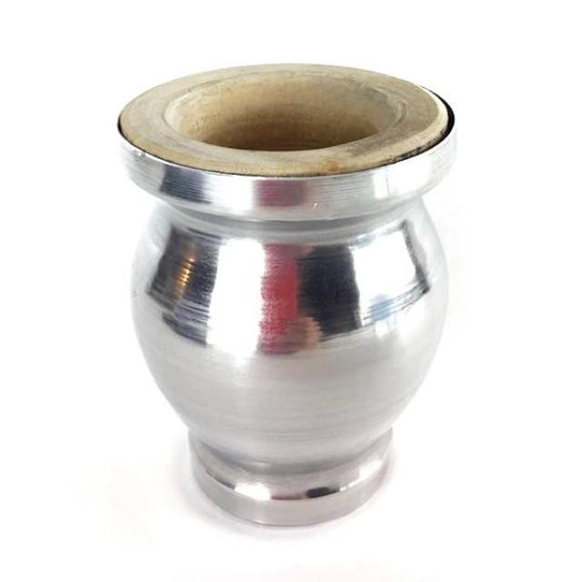 Mate Madera Forrado Aluminio Copa