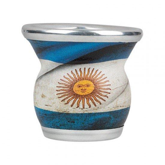 Mate de Vidrio Bandera de Argentina