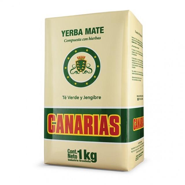 Yerba Mate Canarias Compuesta Te Verde y Jengibre 1 Kg