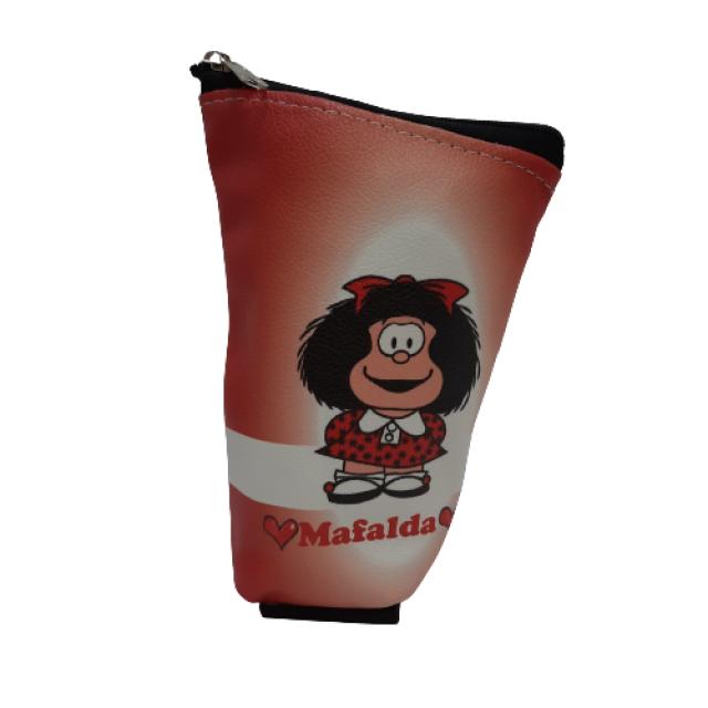 Yerbera de EcoCuero con Cierre e Interior Plástico Aislado Motivo Mafalda 1