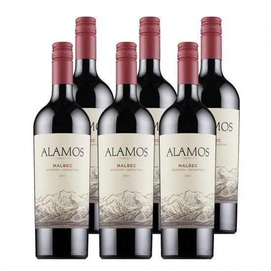 Alamos Malbec Vinos de Argentina - caja de 6 unidades