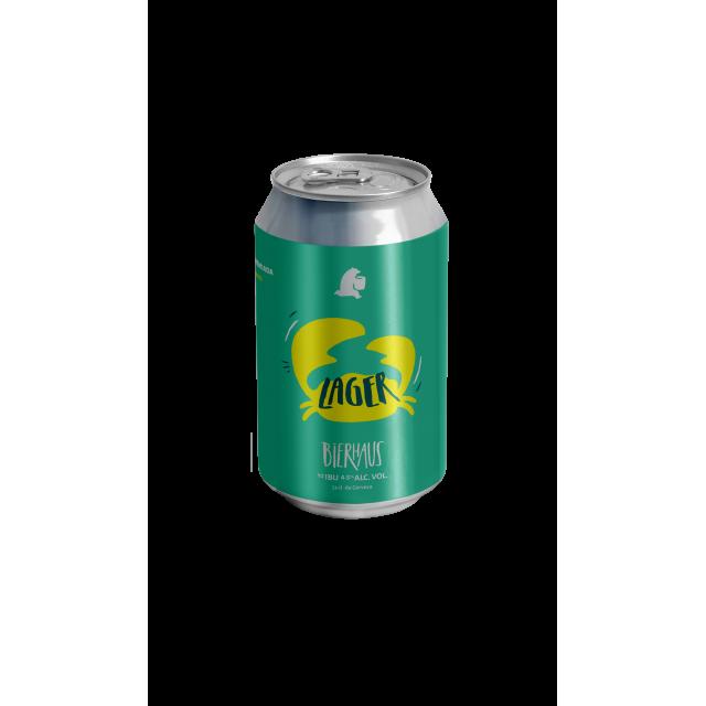 Lata Cerveza Bierhaus Lager Pinche Receta Argentina